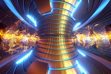 3D Render Fusion Reactor Nucle...