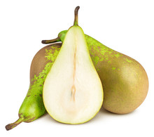Green Conference Pear Isolated...
