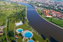 Aerial Photo Of Osijek City, Croatia