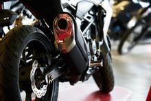 Close Up Shot Of A Motorcycle ...