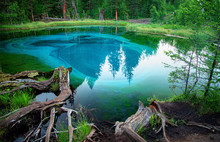 Blue Lake In Which Fountains A...