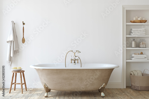 Bathroom interior. 3d render. Fototapete