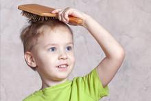 Beautiful Blond Baby Boy Brush...