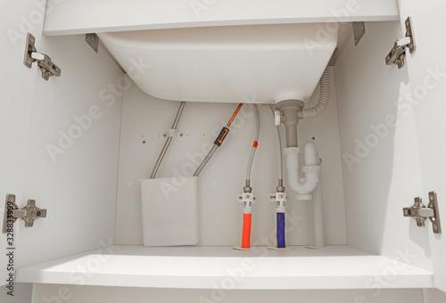 Fotografia, Obraz 洗面所の下の排水管