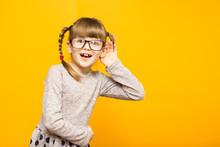 Little Child Girl Journalist I...