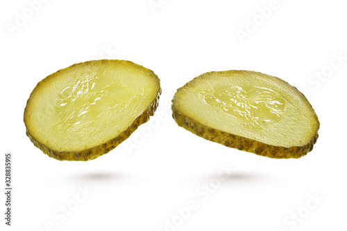 Stampa su Tela Green pickles isolated