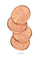 Coin Stack With Penny Or One U...