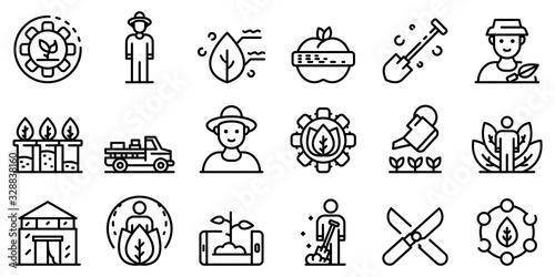 Photo Agronomist icons set