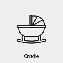Cradle Icon Vector. Linear Sty...