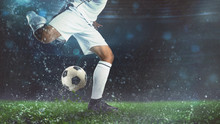 Close Up Of A Soccer Scene At ...