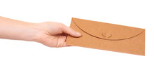 Blank Mail Envelope With Heart.