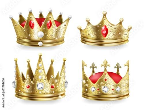 Carta da parati Realistic crowns