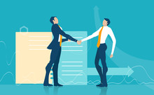 Two Business Man Shaking Hands...