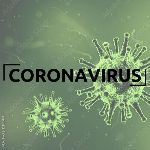 Photo Coronavirus 2019-nCov novel coronavirus concept resposible for asian flu  and co