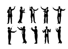 Set Of Conductor Silhouettes V...