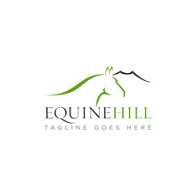 Equine Hill Logo, With Mountai...