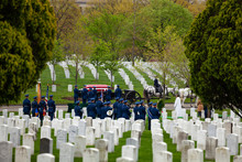 US Military Cemetery On Foregr...