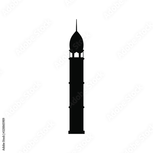 Stampa su Tela Mosque Tower icon isolated on white background