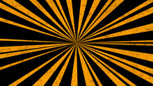 Abstract Vintage Black Background With Yellow Rays