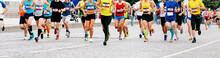 Marathon Runners Running Race ...
