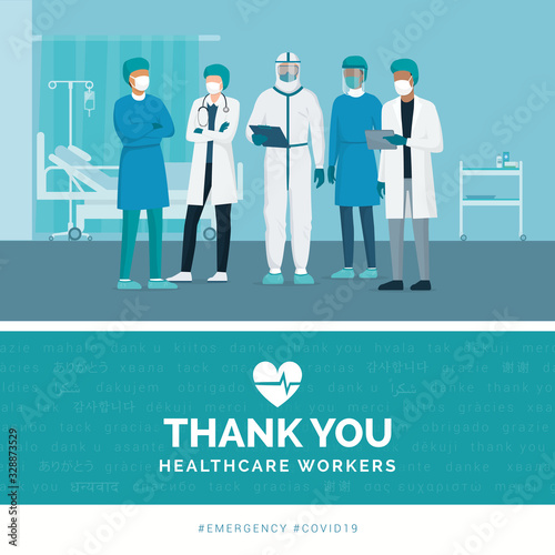 Obraz Thank you doctors and nurses - fototapety do salonu