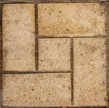 Dirty Yellow Squared Tile. Sea...