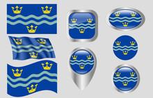Flag Of Cambridgeshire, England
