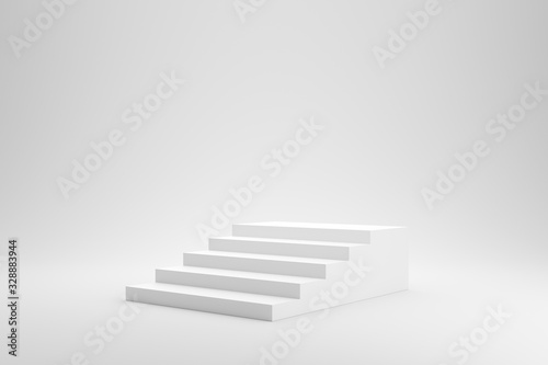 Fotografija Blank stairs or staircase on white studio background with success concept