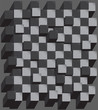 Chess board. Abstract cubes background