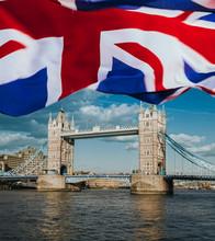Tower Bridge And The UK Flag, ...