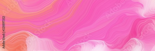 Obraz vibrant colored banner with waves. elegant curvy swirl waves background design with hot pink, pastel pink and light coral color - fototapety do salonu