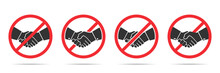 Set Of No Handshake Icons In F...