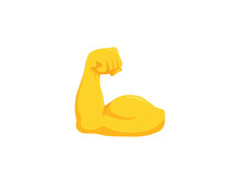 Biceps Vector Isolated Emoji G...