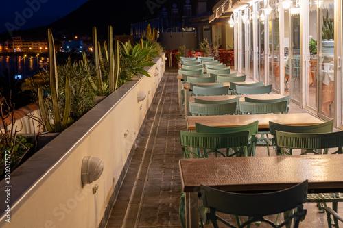 Valokuvatapetti La Gomera bei Nacht