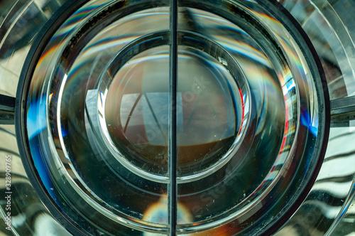 Valokuva lente tipo fresnel de faro marítimo