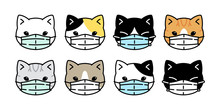 Cat Vector Face Mask Covid19 K...