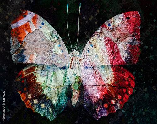 Grunge butterfly