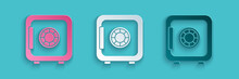 Paper Cut Safe Icon Isolated O...