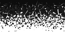 Abstract Cloud Of Pieces And F...