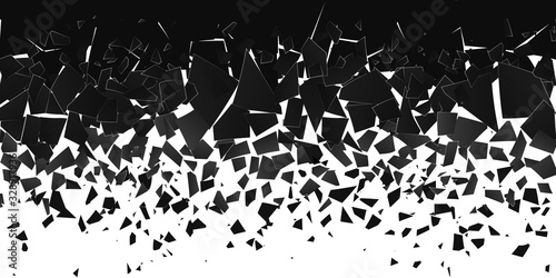 Abstract cloud of pieces and fragments after explosion Slika na platnu