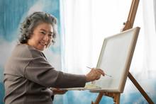 Happy Smiling Asian Elderly Wo...