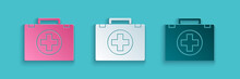 Paper Cut First Aid Kit Icon I...