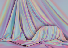 Vector Background. Silk Draper...