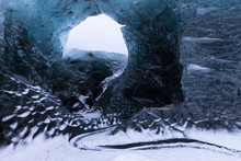 Entrance Of An Ice Cave Inside...