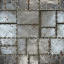 SciFi Panels. Futuristic Texture. Spaceship Hull Geometric Pattern. 3d Illustration.