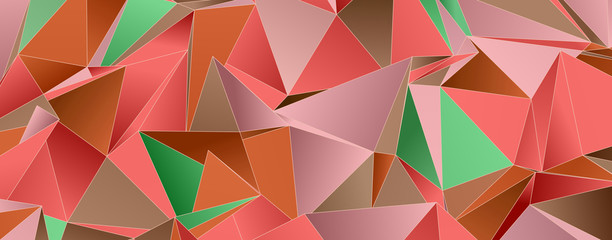 Abstract Low-Poly background. triangulated texture. Design 3d. Polygonal geom...