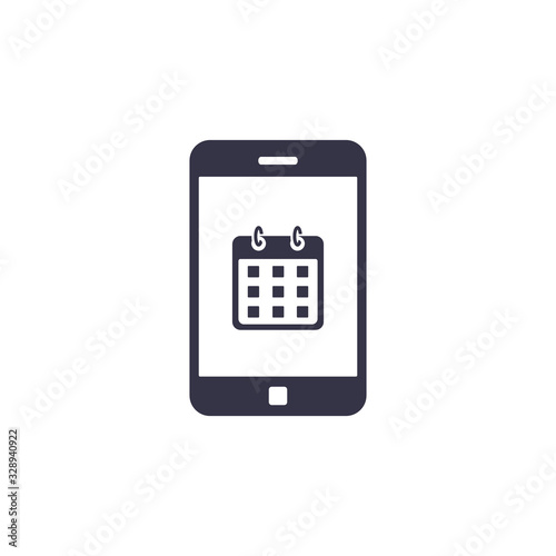 Photo Calendar on smartphone screen icon