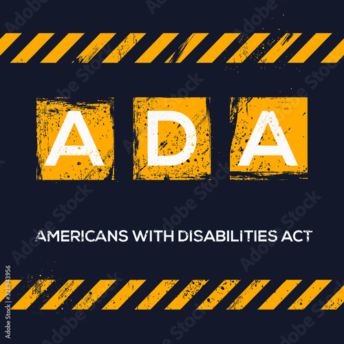 Photo Creative logo , ADA mean (americans with disabilities act) .