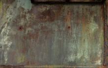 Verwitterte Rostige Stahlwand ...