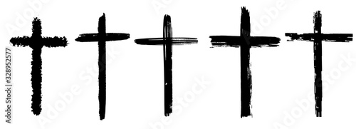 Fotografie, Obraz Collection of crosses for your design